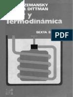 Calor y Termodinámica - 6ta Edición - Mark W. Zemansky & Richard H. Dittman
