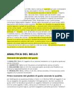 Analitica Del Bello