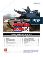 Next War Korea Game Specific Rules