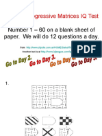 Raven's Progressive Matrices IQ Test.ppt