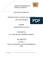 2do Cuestionario de Introducción Al Estudio Del Derecho!
