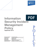 Information Security Incident Management