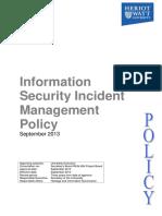 Information Security Incident Management