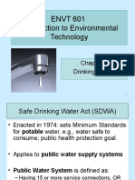 ENVT 601 Chap 6 Drinking Water