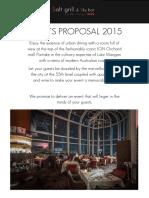 Salt Grill Events Proposal