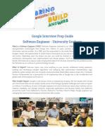 Google Prep Guide Swe