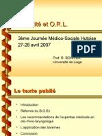 Invalidité et O R L  (28 04 2007)