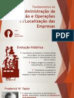 Fundamentos Da Administração Da Produção e Operações e