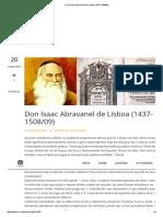 Don Isaac Abravanel de Lisboa (1437-1508_09)