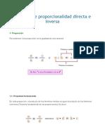 Relación de Proporcionalidad Directa e Inversa