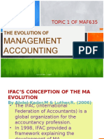 the evolution of management accounting