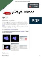 PyCAM - Trayectoria Generación de 3 Ejes CNC de Mecanizado