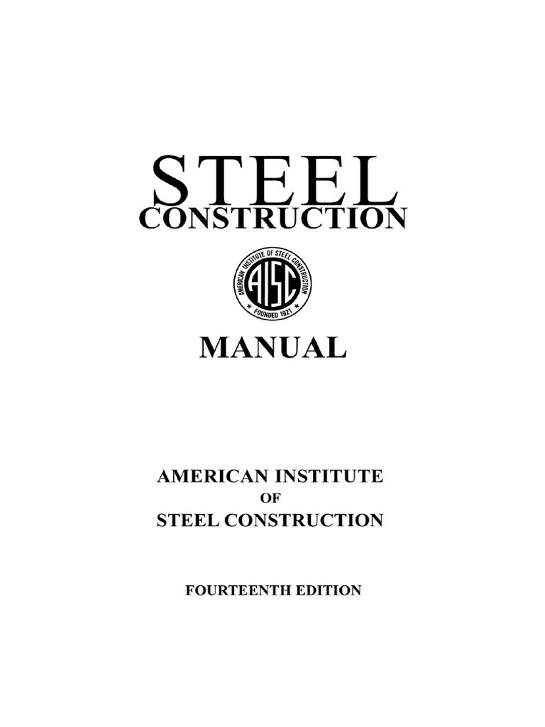 aisc steel construction manual 14th edition part 1 pdf rh es scribd com Steel Construction Manual Online Steel Construction Manual Online