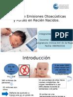 Examen de Emisiones Otoacústicas y Porteo en RN Lis