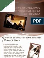 Entrevista, Funcion y Objetivo