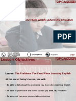 The Problems You Face When Learning English