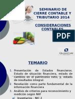 Quantum Seminario Contable Tributario Enero 2014