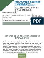 Historia de La Administracion de Operaciones y La