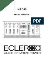 Ecler Mac 40 Manual Servicio