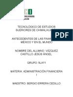 Antecedentes de Las Finanzas en Mexico