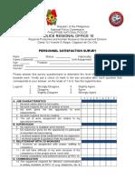 New Persnl Satisfaction Survey Form-2016