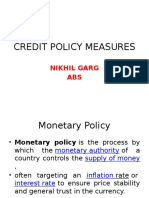 Credit Policy Measures