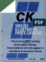 1992-1993 GM Light Trucks Illustration Catalog 1993 Printing