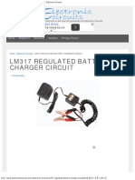 Lm317 Regulated Battery Charger Circuit _ Electronic Circuits