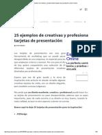 25 Ejemplos de Creativas y Profesionales Tarjetas de Presentación _ Jhon Urbano
