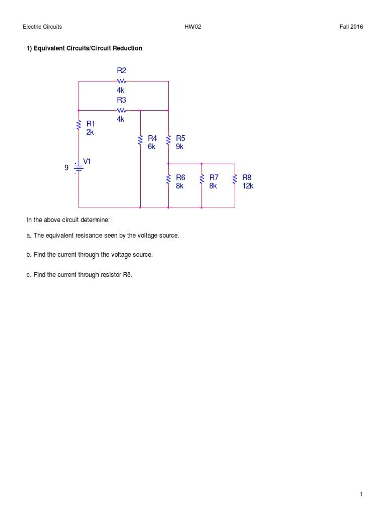 Hw02 Circuits Circuit Diagram Voltage Source