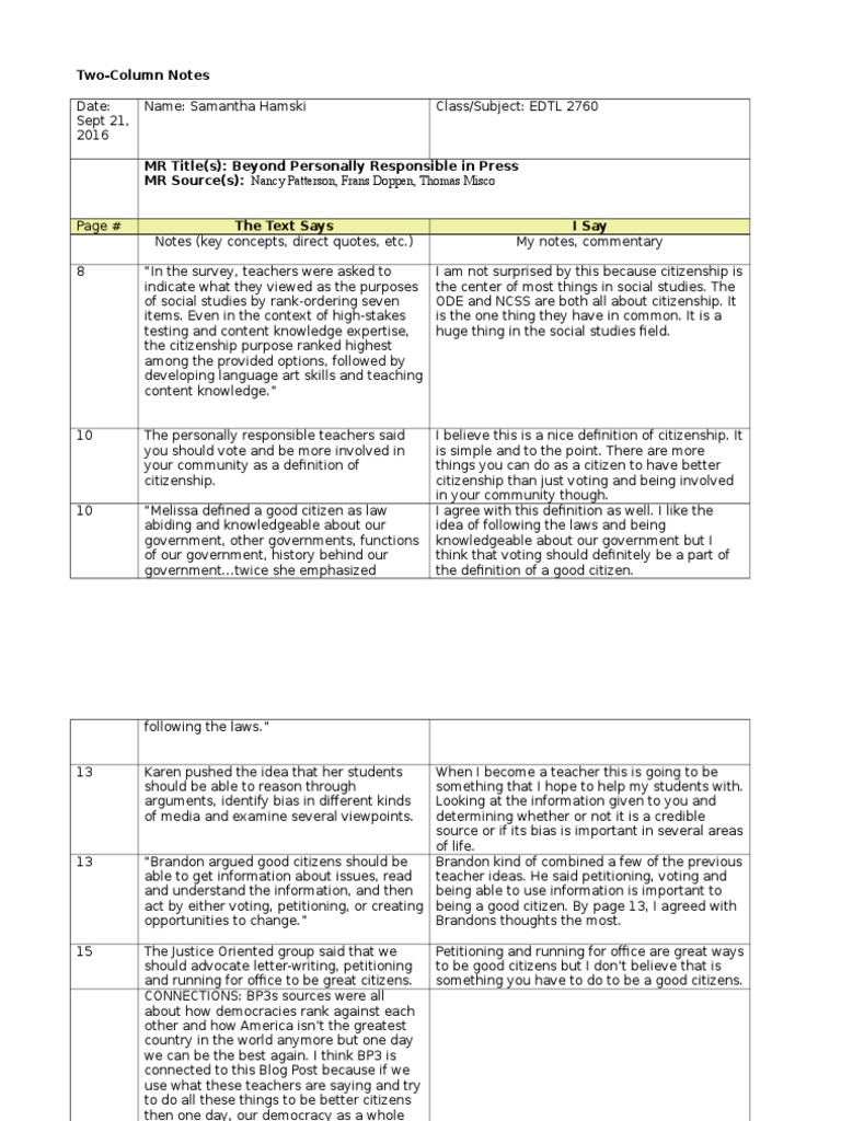 Two Column Notes Template from imgv2-2-f.scribdassets.com