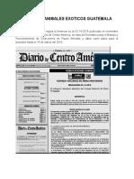 Registro de Animales Exoticos Guatemala