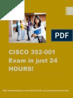 Cisco 352-001 Real Exam Questions