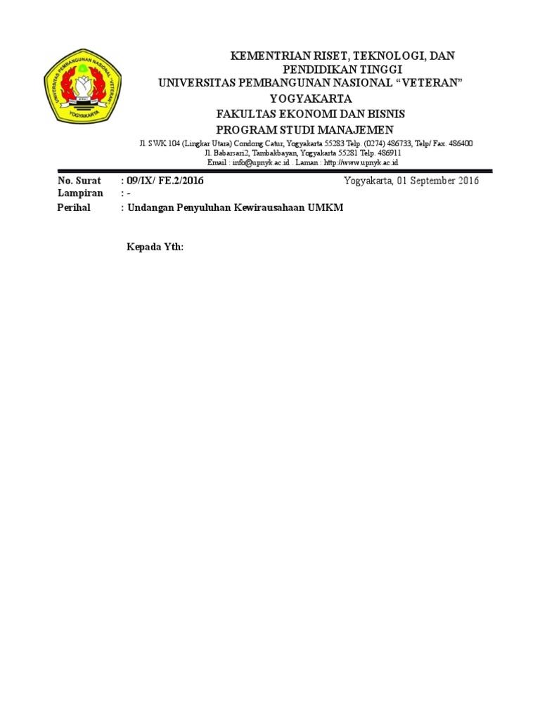 Contoh Surat Resmi Penyuluhan Umkmdocx