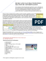 Procedures - Separation of the Silt and Clay Fractions by Centrifugation