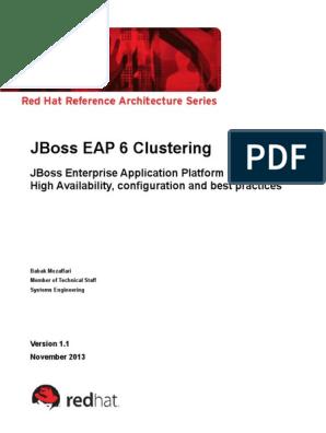 En Rhjb Jboss Eap 6 Clustering | Load Balancing (Computing ...