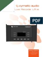 Cymatic Audio LR-16 Manual