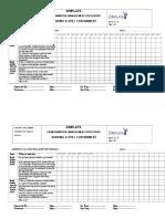 Bund Wall Inspection Checklist