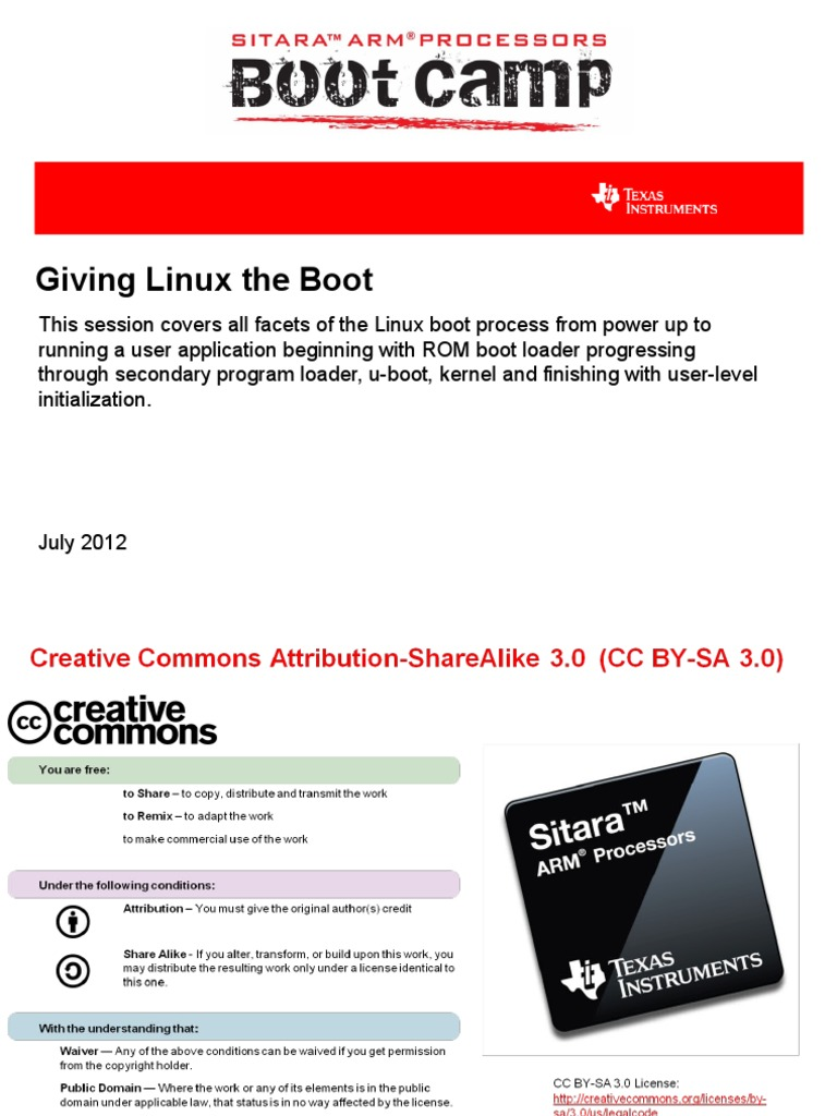 sitara_boot_camp_03_giving_linux_the_boot pptx | Booting