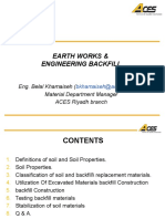 Earthwork & Engineering Backfilling Materials
