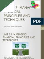 Unit 13 - Budgets
