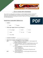 B2C Questionnaire (PCU)