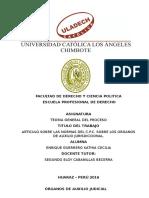 Artículo Sobre Las Normas Del Cpc Sobre Los Órganos de Auxilio Jurisdiccional-