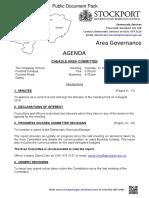 Cheadle Area Committee agenda 27th Sept 2016
