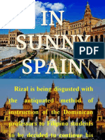 RIZAL In Sunny Spain and FIRST Homecoming