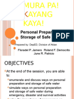 Personal Preparation and Storage of Safe Water