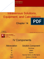 Chapter 14 Intravenous Solutions, Equipment, And Calculations