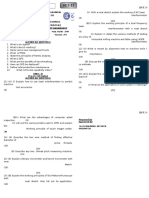 m& m Unit-III Question Paper