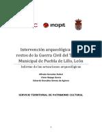 Intervención Arqueológica en Los Restos de La Guerra Civil Del Término Municipal de Puebla de Lillo, León