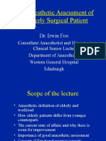 Anaesthesic Assessment of the Elderly Patient2007